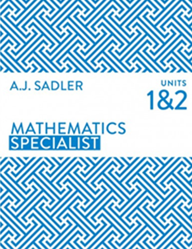 Maths Specialist Tutor for Unit 1 and 2