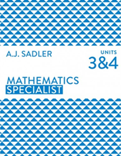 Maths SpecialistTutor for Unit 3 and 4